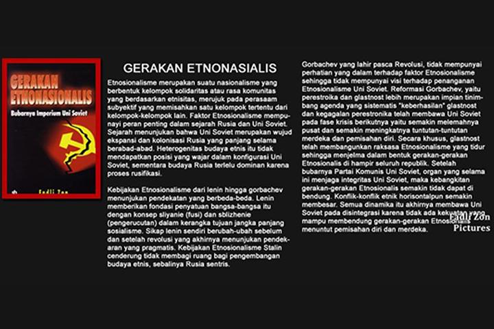 Buku Gerakan Etnasionalis