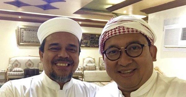 Diskusi Persoalan Bangsa, Fadli Zon Dan Fahri Hamzah Silaturahmi Ke Habib Rizieq Di Mekkah