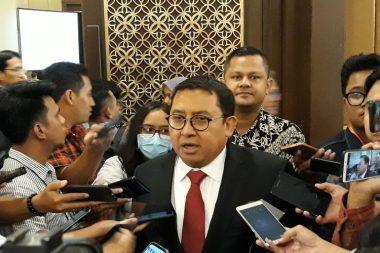 Wakil Ketua Umum Partai Gerindra, Fadli Zon, di Hotel Sultan, Jakarta Pusat